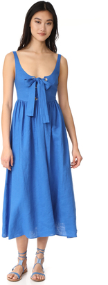 Mara Hoffman Lace Up Maxi Dress $350 thestylecure.com