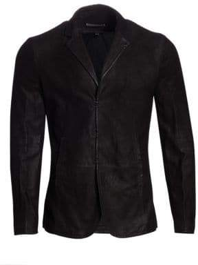 John Varvatos Slim-Fit Leather Jacket