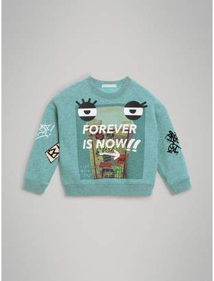 Burberry Forever is Now Print Cotton Sweatshirt