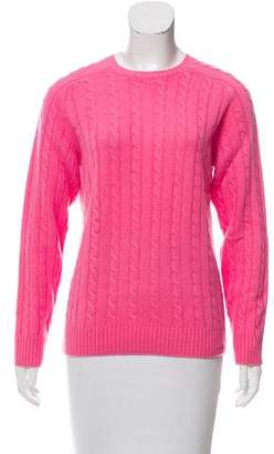 Beams Cashmere Cable Knit Sweater