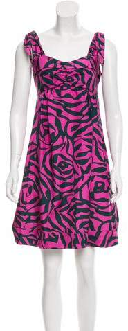 Marc by Marc Jacobs Printed Silk Dress