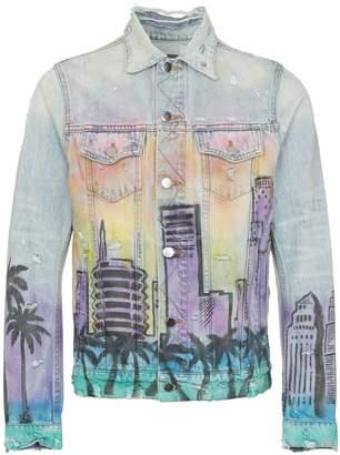 Amiri Hollywood print denim jacket