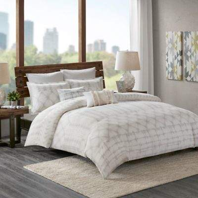 INK+IVY Fiji Twin Comforter Set in Marshmallow