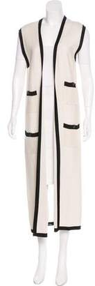 Chanel Knit Duster Vest