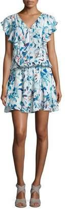 Parker Lana Flutter-Sleeve Blouson Dress, Catalonia $288 thestylecure.com