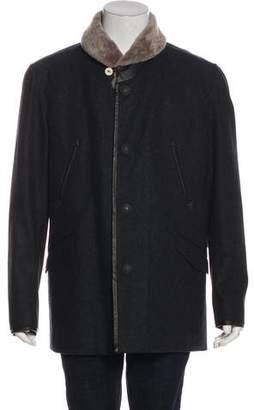 Rag & Bone Wool Button-Up Overcoat w/ Tags