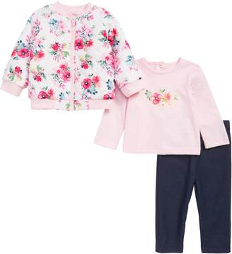 Little Me Reversible Jacket, T-Shirt & Leggings Set