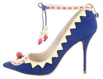 Sophia Webster Embellished Ankle Strap Pumps