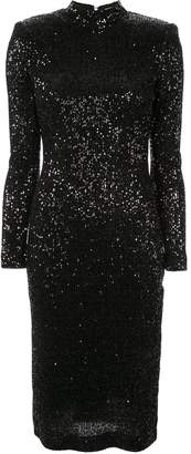 Rebecca Vallance glitter fitted dress