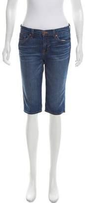 J Brand Denim Mid-Rise Knee-Length Shorts