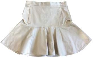 Louis Vuitton Ecru Cotton Skirt for Women