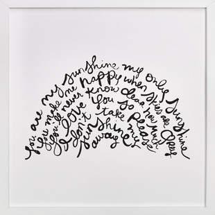 You Are My Rising Sunshine Children's Art Print