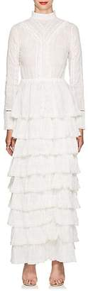 SIR The Label Women's Lucille Embroidered Cotton Maxi Dress - White