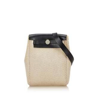 Hermes Herbag cloth handbag