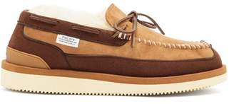Suicoke M2ab Shearling Lined Suede Loafers - Womens - Tan