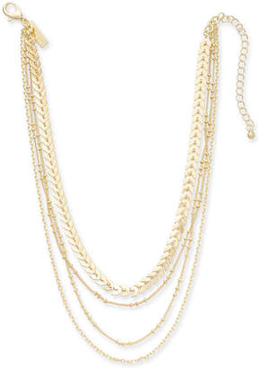 "INC International Concepts I.n.c. Gold-Tone Multi-Chain Layered Choker Necklace, 12"" + 3"" extender"
