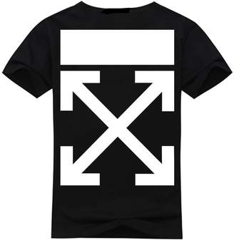 Off-White Men's T-Shirt Short Sleeves Classical Logo on Front White/