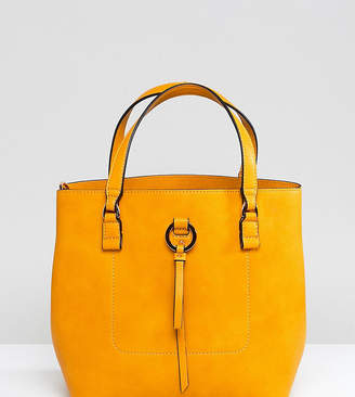 Accessorize yellow double handle bucket bag
