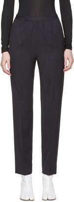 Maison Margiela Navy Gabardine Trousers $585 thestylecure.com