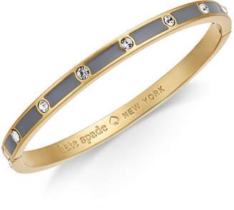 Kate Spade Gold-Tone Crystal Enamel Hinged Bangle Bracelet