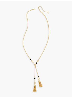 Talbots Double-Tassel Necklace