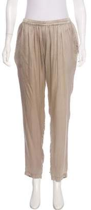Clu Silk Mid-Rise Pants