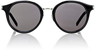 Saint Laurent Women's SL 57 Sunglasses - Black & Silver, smoke