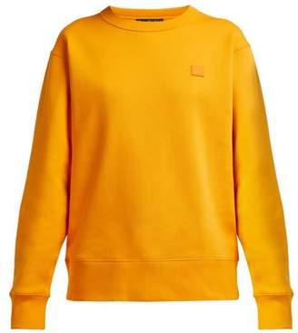 Acne Studios Fairview Face Cotton Jersey Sweatshirt - Womens - Orange