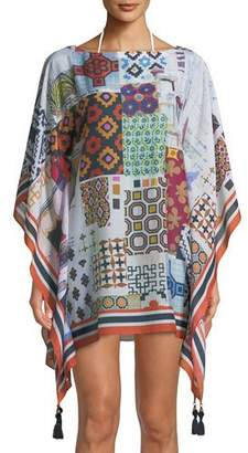 Tory Burch Scrapbook Printed Beach Caftan Coverup