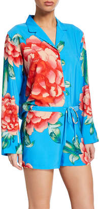 Natori Nova Long-Sleeve Shorty Pajama Set