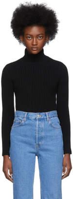 Balenciaga Black Cashmere Ribbed Turtleneck