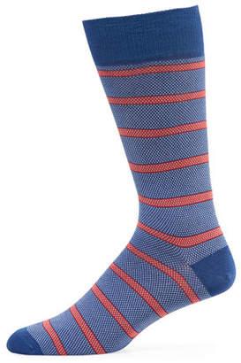 Neiman Marcus Men's Oxford Stripe Socks