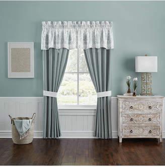 "Croscill Closeout! Eleyana Cotton 41"" x 84"" Pole Top Window Panel Bedding"
