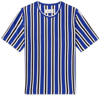 Maison Margiela Striped Knitted Wool-Blend T-Shirt