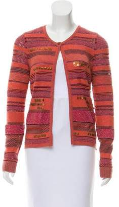 Kenzo Wool-Blend Embellished Cardigan