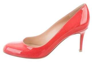 Gianvito Rossi Patent Leather Round-Toe Pumps w/ Tags