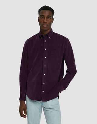 Gitman Brothers Corduroy Button Down Shirt in Purple