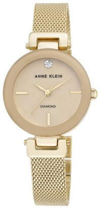 Women's Anne Klein Mesh Strap Watch, 30Mm $95 thestylecure.com