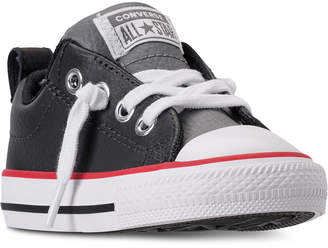 Converse Toddler Boys' Chuck Taylor Street Ox Leather Casual Sneakers from Finish Line
