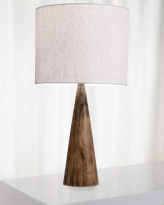 Vandue Conical Wood Log Table Lamp