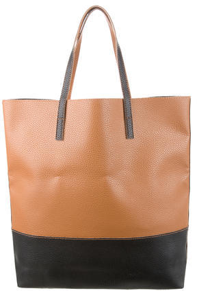 Max Mara MaxMara Bicolor Pebbled Leather Tote w/ Tags