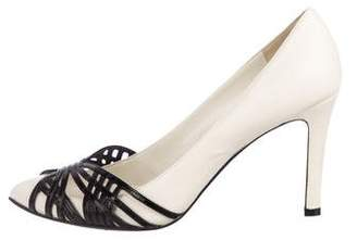 Sigerson Morrison Leather Pointed-Toe Pumps