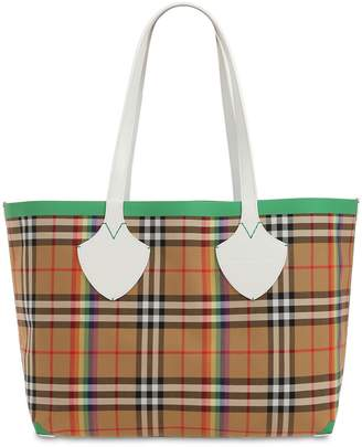 Burberry Md Canvas Check Giant Tote