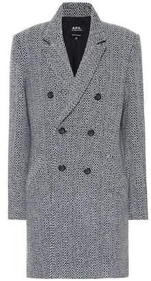 A.P.C. Joan herringbone wool-blend coat