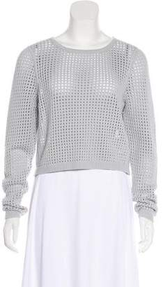 Rebecca Taylor Long Sleeve Mesh Cropped Sweater w/ Tags