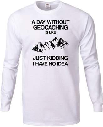 DAY Birger et Mikkelsen Podalyzer A Without Geocaching Is Like - Funny Adventurer Long Sleeve T-shirt