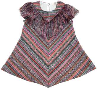 Missoni Fringed Lurex & Wool Blend Dress