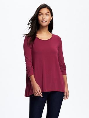 Jersey-Knit Swing Tee for Women $16.94 thestylecure.com