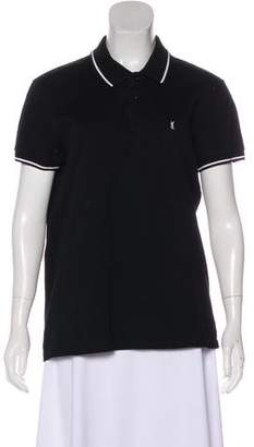 Saint Laurent Short Sleeve Polo Top