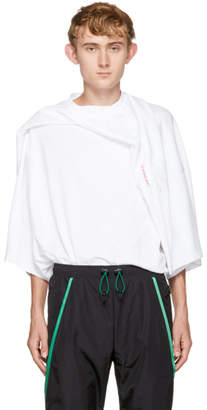 Y/Project White Oversized Deconstructed T-Shirt